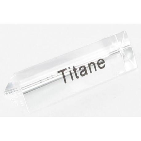 Bloc Plexi Signalétique Titane 35x10xht10 - Lot de 5