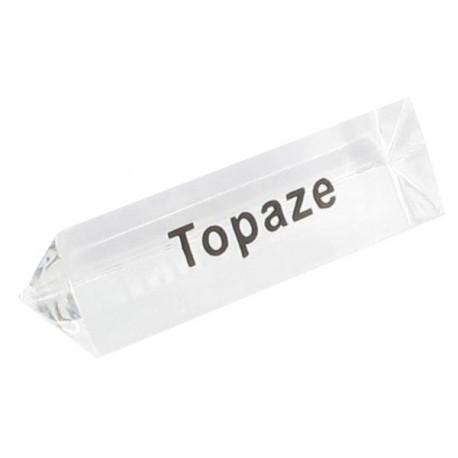Bloc Plexi Signalétique Topaze naturelle 35x10xht10 - Lot de 5
