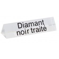 Lot de 5 signalétiques, transparent, plexiglass, diamant noir