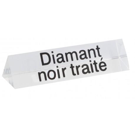 Bloc Plexi Signalétique Diamant noir traité 3