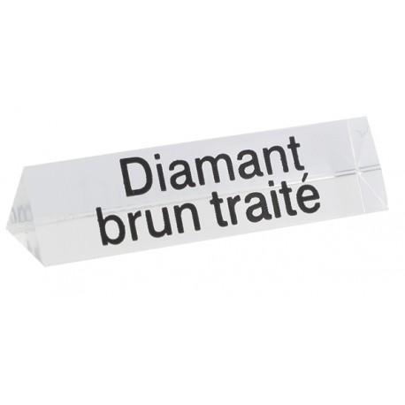 Bloc Plexi Signalétique Diamant brun traité 3