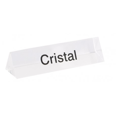 Bloc Plexi Signalétique Cristal  35x10xht10 L