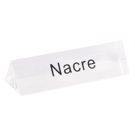 Bloc Plexi Signalétique Nacre  35x10xht10 Lot