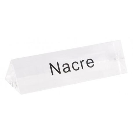 Bloc Plexi Signalétique Nacre  35x10xht10 Lot