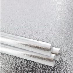 Papier cadeau, gaufré finesse, argent métal, largeur 70 cm, rouleau de 50 m
