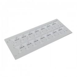 Bangles plastic labels, beta gold plate