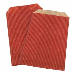 Lot 250 sacs papier kraft rouge 7x12