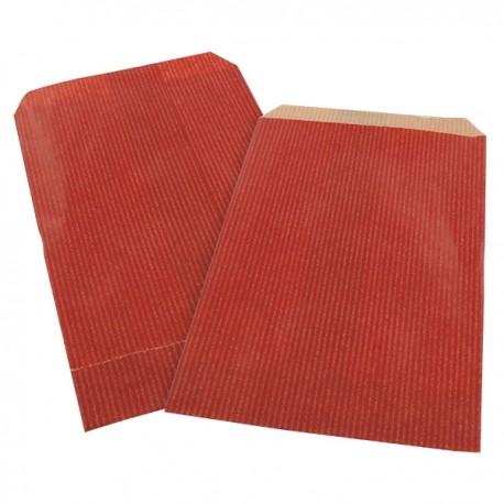 Lot 250 sacs papier kraft rouge 11x17