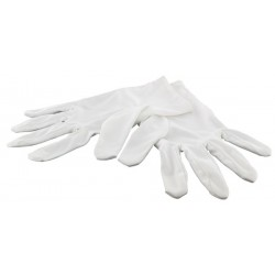 1 Pair of white gloves, jewellery, size S