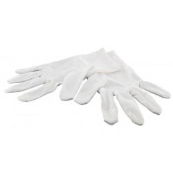 1 Paire gants blancs, bijouterie, taille S