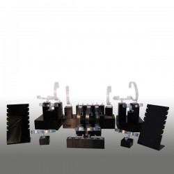 Présentoir kit M, multifonctions, noir, plexiglass