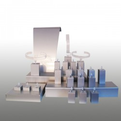 Présentoir kit S, multifonctions, argent, plexiglass