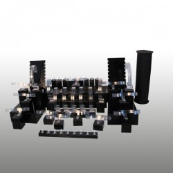 Présentoir kit XL, multifonctions, noir, plexiglass