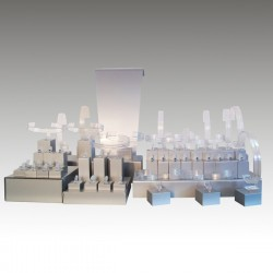 Display kit XL, multifunctional, silver, plexiglass