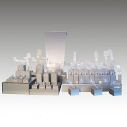 Présentoir kit XL, multifonctions, argent, plexiglass