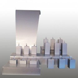 Display kit XS, multifunctional, silver, plexiglass