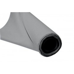 Fabric tissue, the meter - Width 140 cm - Grey imitation leather