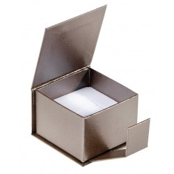 Ecrin à bague carré, en carton, Qamea 39