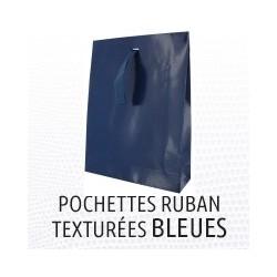 Pochette texture lezard bleu