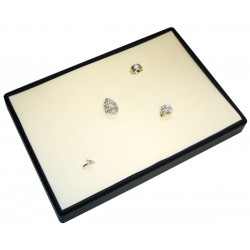 Presentation tray, 64 rings, leatherette sheath