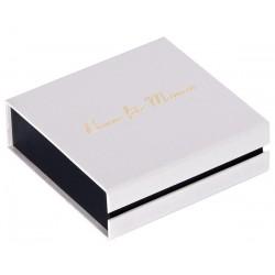 Ecrin à pendentif chaîne carré blanc, en carton,  bonne fête maman, dorure or