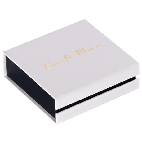 Pendentif universel  85x85x25H Blanc impr/dor