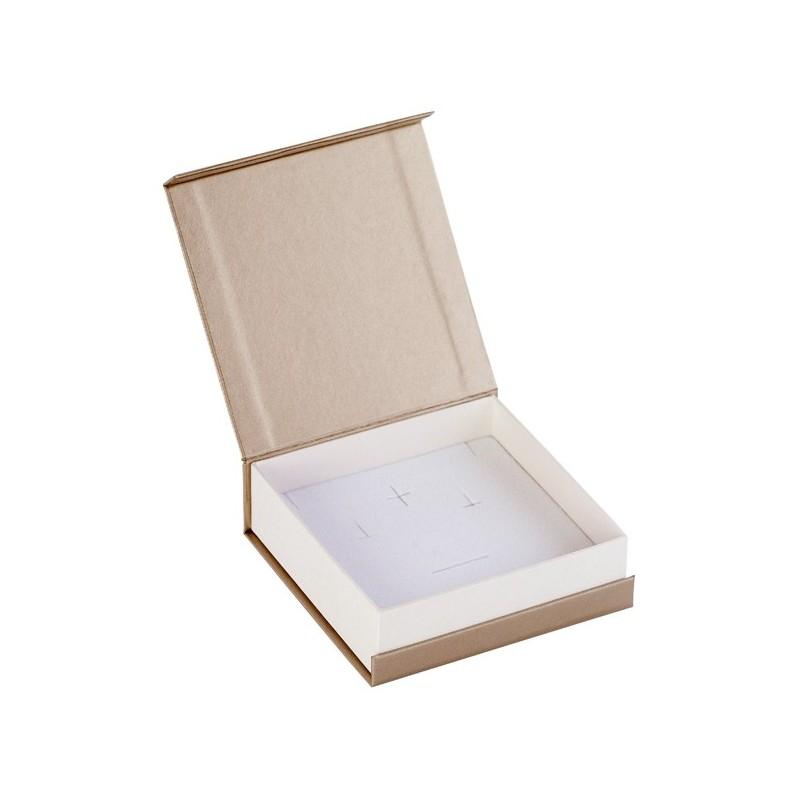 Acheter ecrin pendentif cha ne carr champagne en carton - Acheter carton colis ...