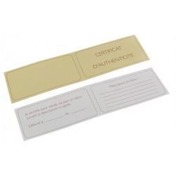 Certificat d'authenticité, sans texte - 90x45 mm