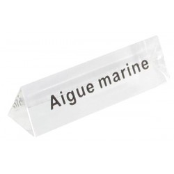 Bloc Plexi Signalétique Aigue marine 35x10xht10 - Lot de5