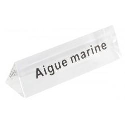 Lot de 5 signalétiques, transparent, plexiglass, aigue marine.