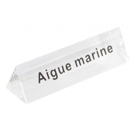Bloc Plexi Signalétique Aigue marine 35x10xht10 - Lot de5