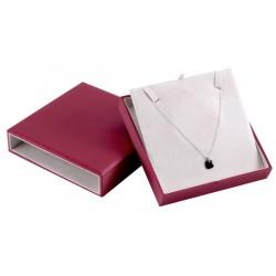 Ecrin luxe à collier, design plumier, carré, N°24