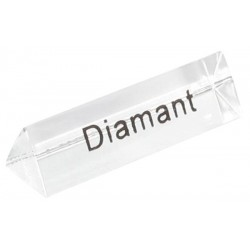 Bloc Plexi Signalétique Diamant 35x10xht10 - Lot de 5