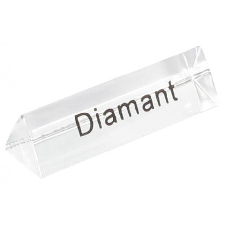 Bloc Plexi Signalétique Diamant 35x10xht10 - Lot de 5