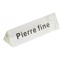 Bloc Plexi Signalétique Pierre fine 35x10xht10 Lot de 5
