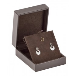 Long earrings luxury box, leather, N°64