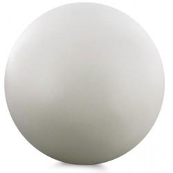 Sphère décorative, bois, blanc, diam 7 cm