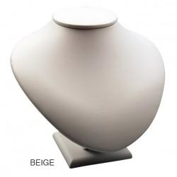 Mini buste pour collier, gainé simili cuir, H85 mm