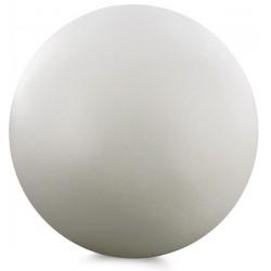 Sphère décorative, bois, blanc, diam 10 cm