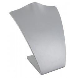 Buste, gainé simili cuir gris métal, H 160 mm