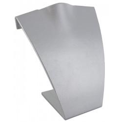 Buste incurvé, gainé simili cuir gris métal, H 160 mm