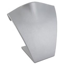 Buste incurvé, gainé simili cuir gris métal, H 125 mm
