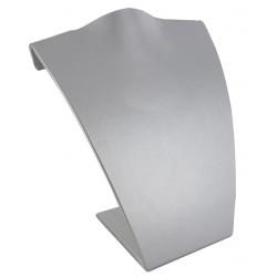 Buste incurvé, gainé simili cuir gris métal, H 180 mm