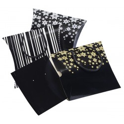 Pack of 90 ready-to-wear gift bags -Large Size in cardboard with cords