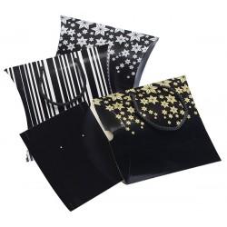 Lot de 90 pochettes cadeau prêt à porter -GM en carton avec cordons