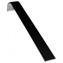 Support bracelet horizontal, gainé simili cuir noir, H 45 mm
