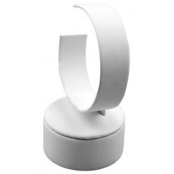 Support bracelet, rond, ressort vertical, gainé simili cuir, H 20 mm