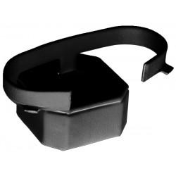 Support bracelet, pans coupés, ressort horizontal, gainé simili cuir, H 20 mm