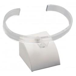 Support bracelet, éventail, gainé simili cuir, H25mm