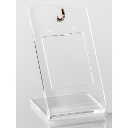 Support créoles transparent, plexiglass - 35x60 mm